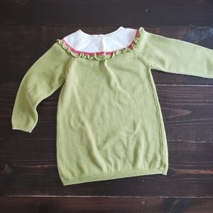 Gymboree Dresses - Toddler Girl Green Sweater Dress with Owl Design